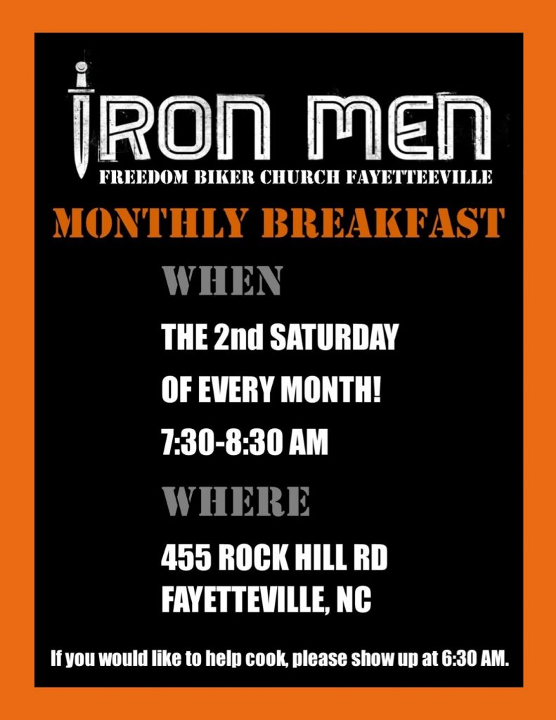 Iron Men Breakfast at FBCF @ Freedom Biker Church Fayetteville | Fayetteville | North Carolina | United States