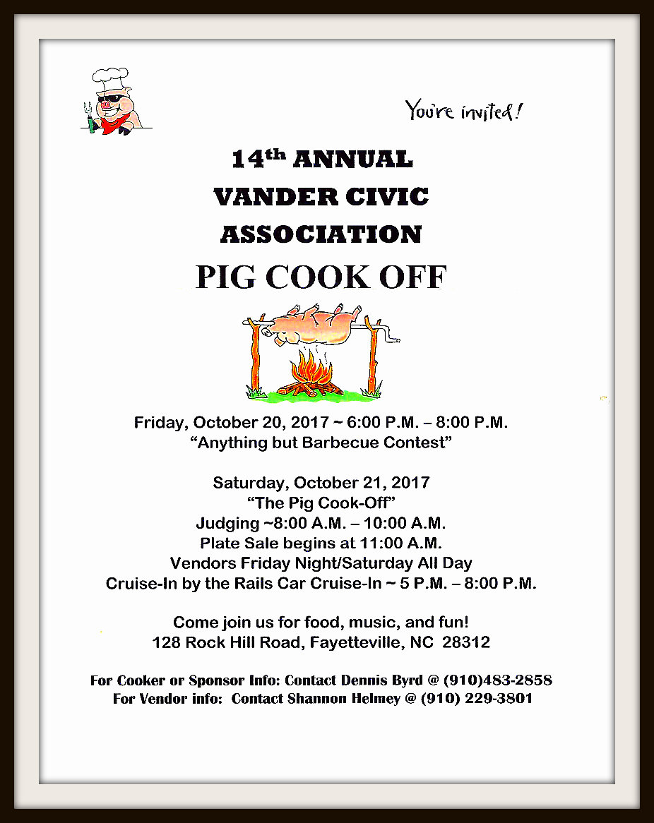 14th Annual Vander Anything But BBQ Contest @ Vander Park | Fayetteville | North Carolina | United States